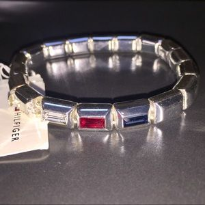 NWT Tommy Hilfiger Bracelet W/Red Blue Insets